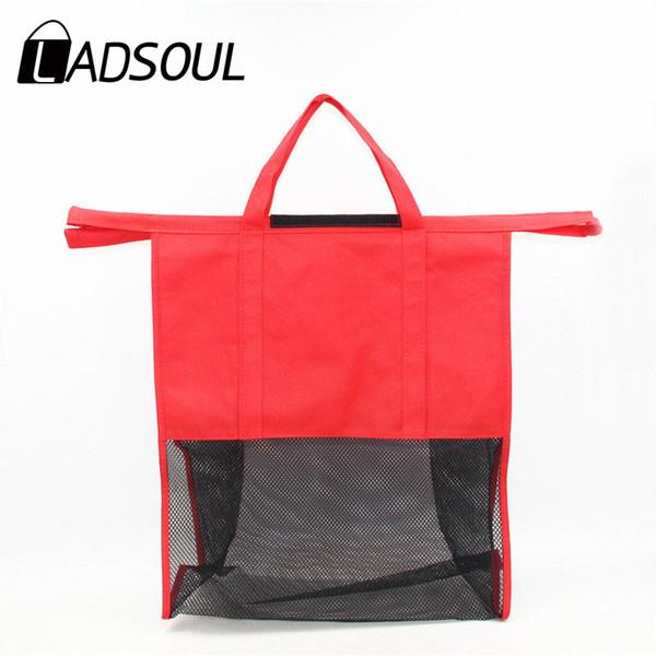 LADSOUL Hot Sale 4PCS/Set Shopping Cart Trolley Bags Foldable Reusable Grocery Shopping Bag Supermarke Eco-friendly Bag