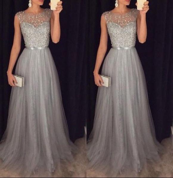 2018 vestido Mulheres Chiffon Vestido Longo Prom Formal Cocktail Party Bola de vestido de noite da dama de honra do vestido de casamento