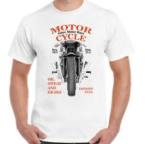 850cc Motor Race Мужская Байкерская Футболка BrandCafe Racer Мотоцикл Индийский