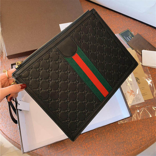 Genuine Leather Designer Brand Handbags for men and women new trends fashion clutch bags unisex designer bags