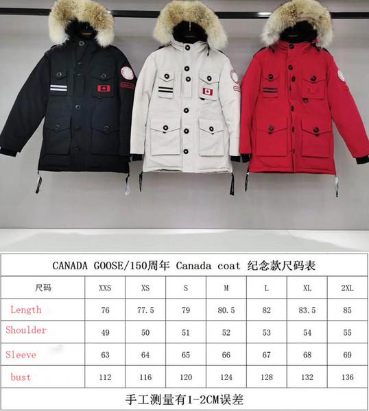 Canada Luminous Mens Black Parka Jacket 19FW Vintage Luxury men Designer Jacket Winter Coats High quality Brand White Down Jacket Selling