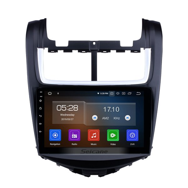 Quad-core HD Touch Screen 9 inch Android 9.0 Car GPS Navigation Radio for 2014 Chevy Chevrolet Aveo with AUX WIFI support car dvd TV Tuner