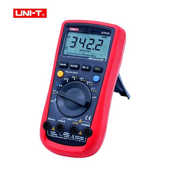 Digital Multimeter UNI-T UT61A AC/DC voltage Current Ohm meter Capacitance Resistance Frequency Diode Tester NCV LCD Backlight