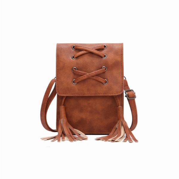 Charm2019 Tassels Will Screen Package Korean Single Shoulder Mini- Small Mobile Phone Bag