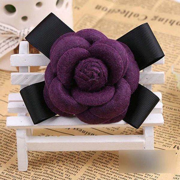 Purple Wool Bow