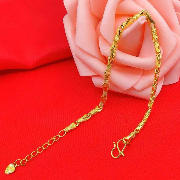 Песок, золото, медь, позолота, имитация золота, ювелирные изделия, модные женские рыбные браслеты долгое время не выцветают