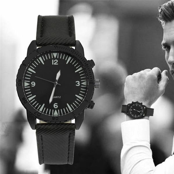 Watch Men Quartz Wrist Retro Design Leather Band luxury Analog Alloy Charm Watches Hot-selling reloj deportivo hombre A4