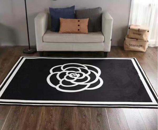 2019-2020 nuovo modo europeo di stile di marca zona salotto nuovo Tappeti 150 x 200 cm antiscivolo nero bianco flanella arredo casa tappeto