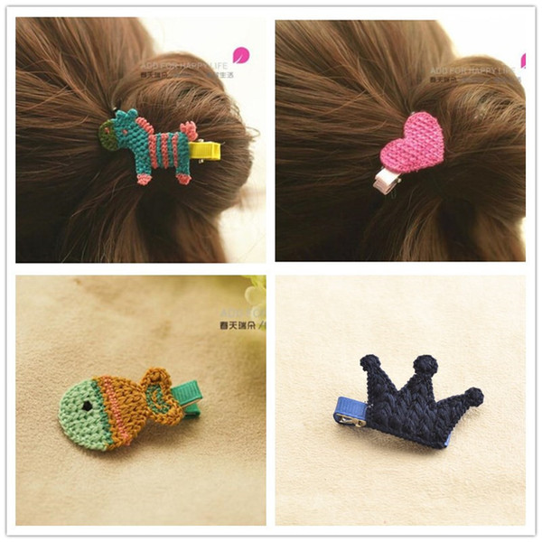 kawaii braid cartoon hairpins baby girls kids hair clips bows barrette accessories for children clip hairclip hairgrip headdress