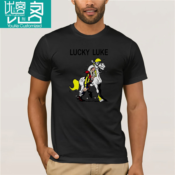 Lucky Luke T Shirt White Poster All Sizes S 3Xl for men cotton casual