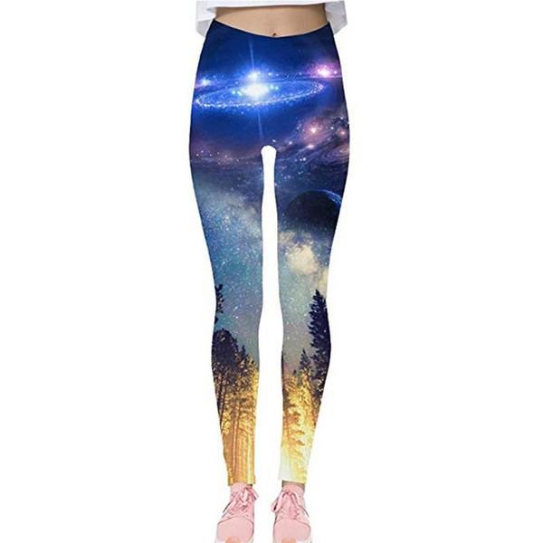 Sport Leggings Women Yoga Pants 2019 Workout Fitness Clothing Jogging Running Pants Gym Tights Stretch Digital Print Sportswear #976065