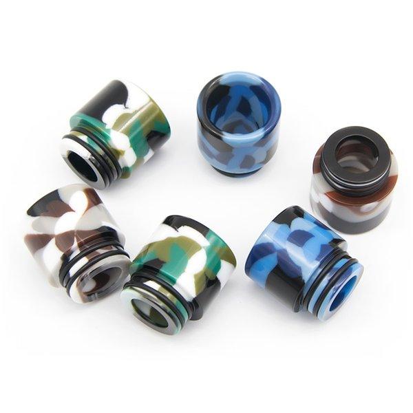Camo resina epóxi Ampla Bore Drip Tip 810 Tópico Bocal Vape Drip Dicas para TFV8 TFV12 Príncipe TFV8 Big Baby Tanque Atomizador
