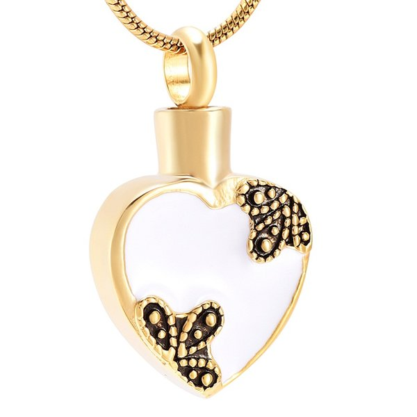 IJD10011 Simple Heart Stainless Steel Cremation Souvenir Pendant for Ashes Urn Memorial Keepsake Necklace Jewelry for Women