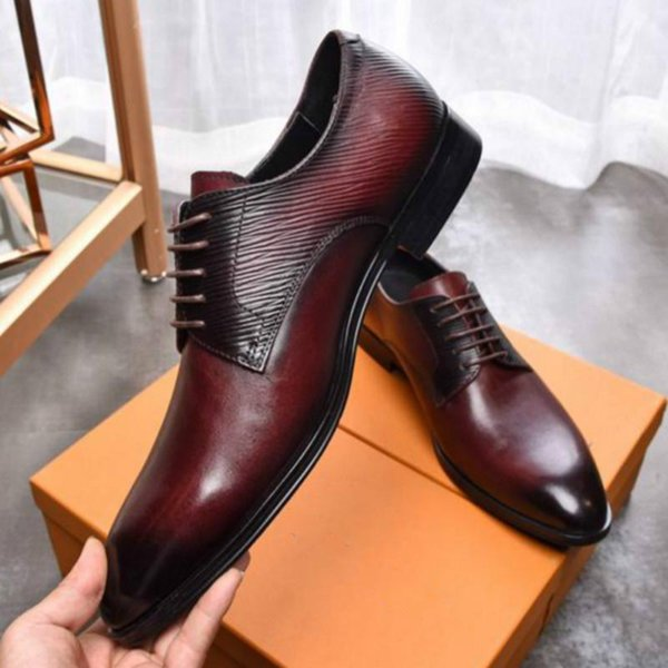 High-end business men's shoes work shoes classic hot style dress shoes catwalk size 38-45 manufacturers promotion