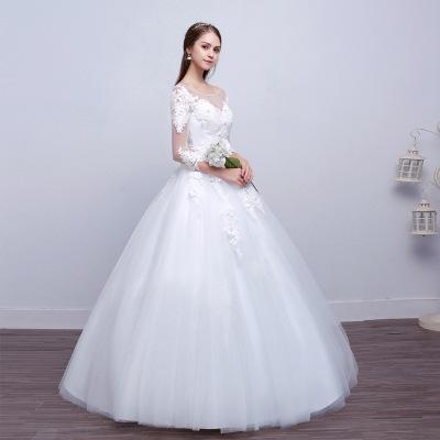 2018 venta al por mayor de alta calidad hechos a mano princesa-patrón vestidos de novia con vendaje trasero puede ajustar el tamaño envío gratis