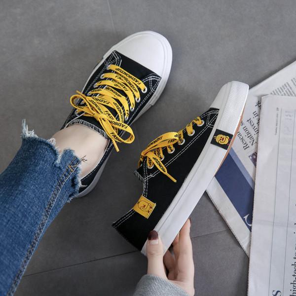 2019 Nuova Estate Scarpe di Tela Per Le Donne Moda Solid Superstar Little Yellow Duck Vulcanize Scarpe Sneakers Zapatillas Mujer