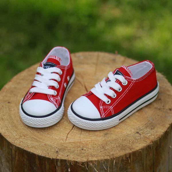 2017 Tuval Çocuk Ayakkabıları Spor Nefes Erkek Sneakers Marka Çocuklar Kızlar için Ayakkabı Kot Denim Rahat Çocuk Düz Tuval ayakkabı
