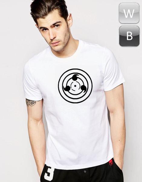 Naruto Sharingan T-shirt Sasuke Crew Imprimer Top Tee T Cadeau Graphique Officiel Anime 100% Coton Pour Homme, impression de T-shirt