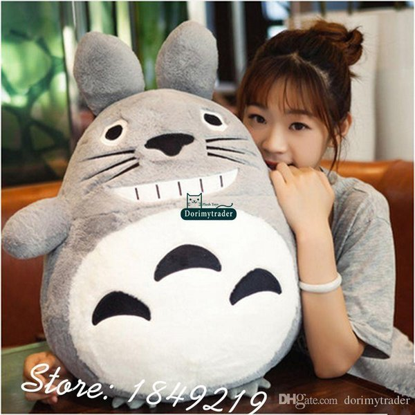 Dorimytrader 75cm Japan Anime Totoro Pillow Plush Soft Giant 30 Cartoon Totoro Toy Doll 3 Colors Nice Baby Gift Free Shipping DY61184