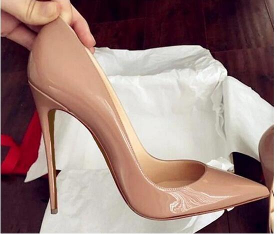 Top Quality 2019 Women Shoes Red Bottoms Stiletto hee Sexy Mary Jane Prom Party Pumps Lady Wedding Dress Shoe with logo