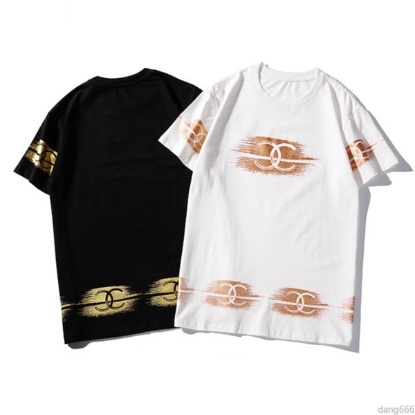 S-XXL Yaz Erkekler ve Kadınlar Giyim Çift Moda Harfler Baskılı Kısa Kollu T-Shirt Pamuk Rahat Spor Stil Kazaklar Tee