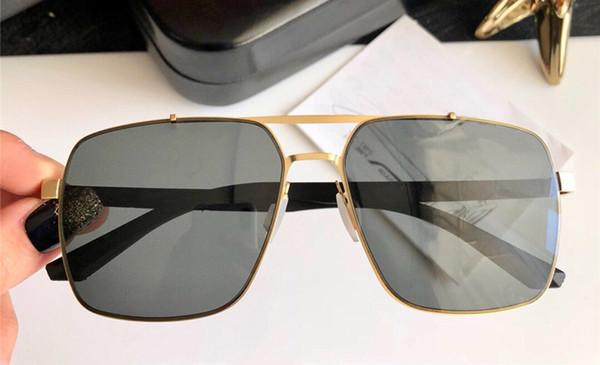 Luxus-Top-Designer-Sonnenbrille Einfache Metallbrille mit quadratischem Rahmen Ultraleichtes Gewicht Leicht zu tragende Brille UV400-Schutz mit Box