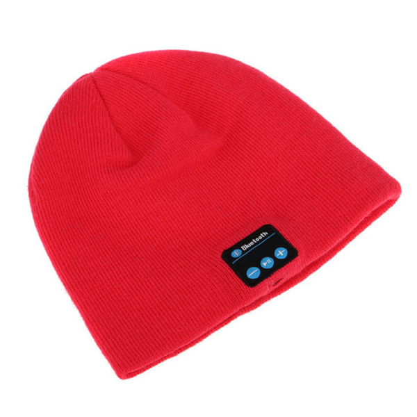 Knitted Hat Bluetooth Wireless Earphone Smart Headset Stereo Music Speaker Mic Winter Outdoor Sport Music Soft Warm Hat