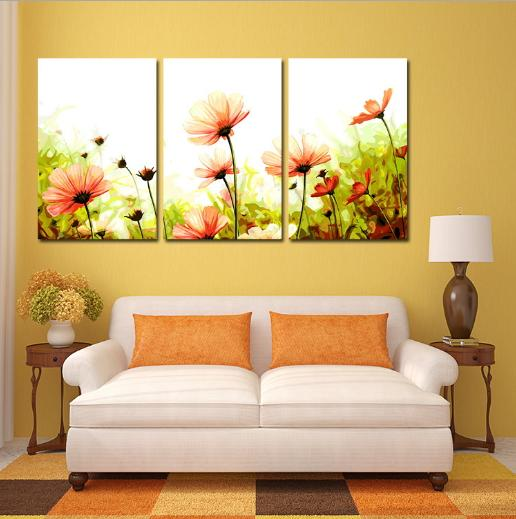 Hot Modern Wall Painting Home Decorative Art Picture Paint Canvas Printing Color Painting Digital Oil Abstract Flowers Printed