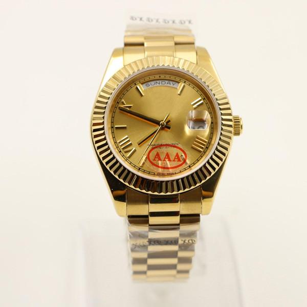 Rolex Diseñador de alta calidad al por mayor reloj DÍA FECHA deslizamiento mecánico suave 40 MM para hombre royal oaks reloj correa de bisel de acero inoxidable Relojes de pulsera