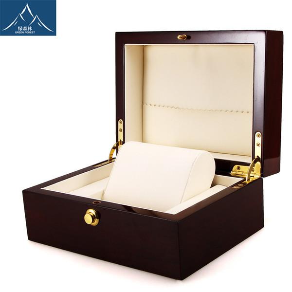 scatola di vigilanza di legno di alta qualità vernice vigilanza di legno gioielli regalo scatola WT02
