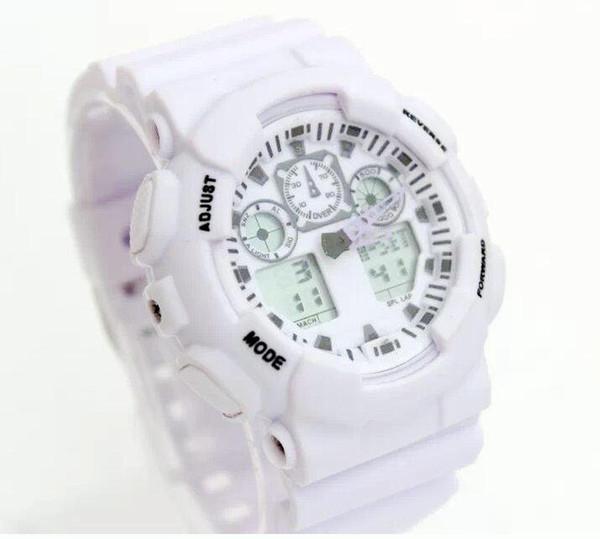 2019 novo display dual sports watch ga100 g preto display led moda exército militar chocante relógios homens casual relógios chat # tf950