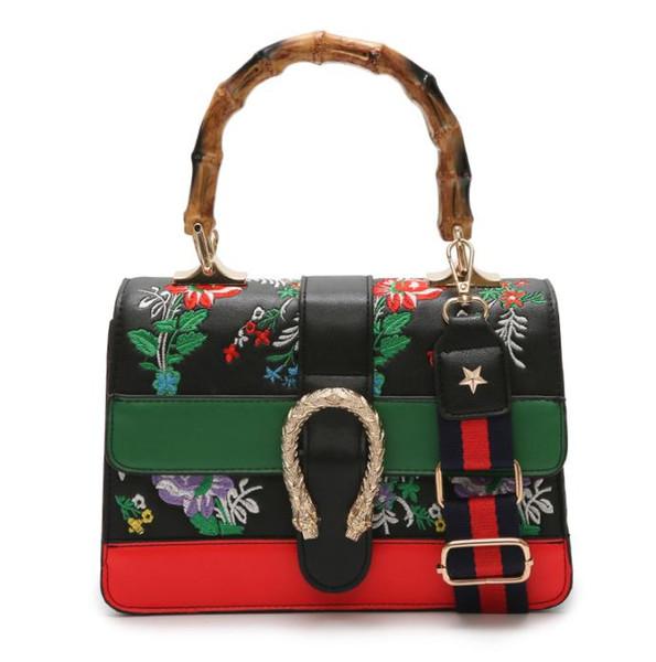 borsa delle donne 2019 borse in pelle da donna di lusso donne famose marche borse spalla tracolla di design di bambù maniglia sacca un main