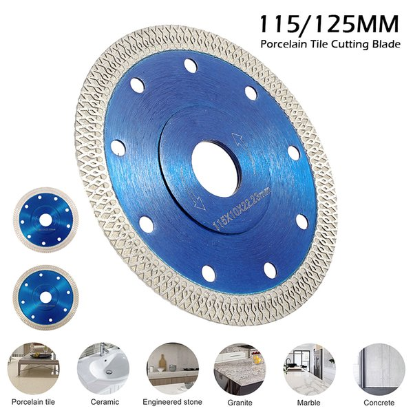 best selling 115mm 125mm Porcelain Tile Cutting Blade Ultra-thin Diamond Porcelain Saw Blade Circular Disc for Cutting Tiles