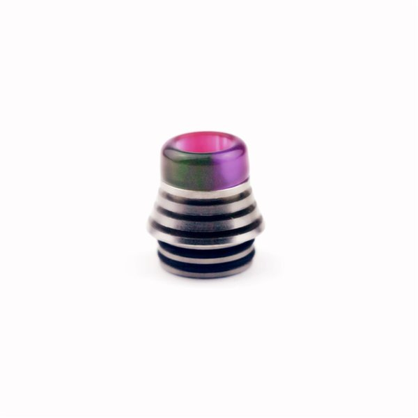 NEW 810 TFV8 Wide Bore Drip Tip Epoxy Resin SS Colorful Mouthpiece For 810 Thread TFV8 TFV12 Prince Tank Kennedy RDA