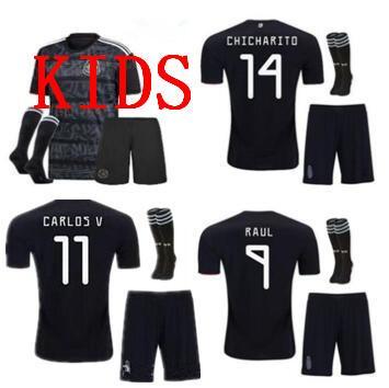 2019 Mexico GOLD CUP Fußballtrikots Mexico KIDS Kits CHICHARITO Zukunftsspiele H.LOZANO G.DOS SANTOS Kinder KIT