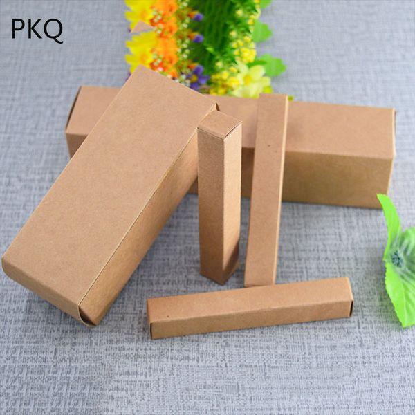 100pcs multi formati scatola di carta kraft bottiglia di cosmetici scatola di imballaggio pacchetto di rossetto olio essenziale bottiglia di profumo imballaggio del regalo