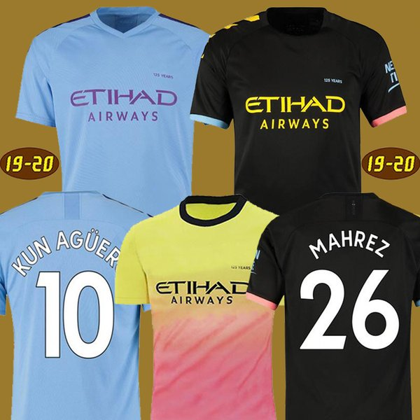 19 20 soccer jersey city 2019 2020 MAHREZ G. JESUS DE BRUYNE KUN AGUERO football shirt MENDY MAN uniforms manchester maillot men + kids kit