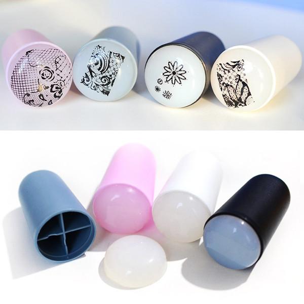 Novo 1 pcs 3.2 cm Marshmallow Big Nail Art Stamping Profissional Stamper Recarregar Squishy Ferramentas Prego (4 cores podem escolher)