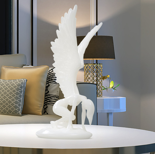 Tooarts Angel With Wings Figurine For Home Decor 3d Printed Sculpture West Myth Art Decor Abstract Angel Statue Art Sculpture Wholesale Novelty Gifts