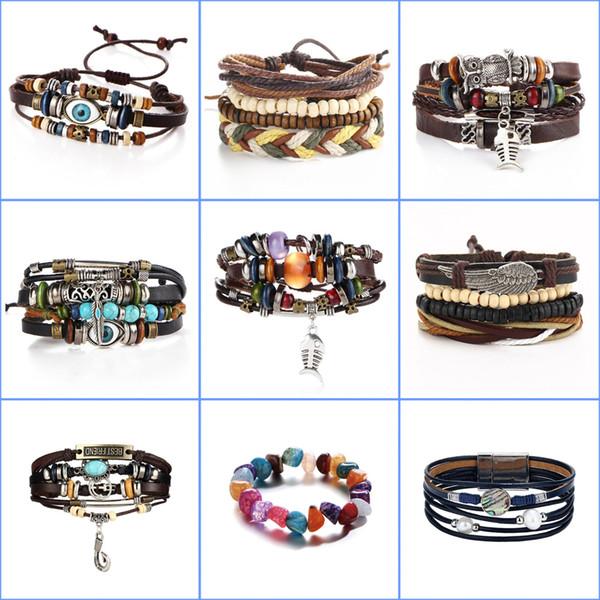 Europe les États-Unis rétro créatif LOVE horloge menottes combinaison alliage accessoires faits main bracelet multicouche tissé