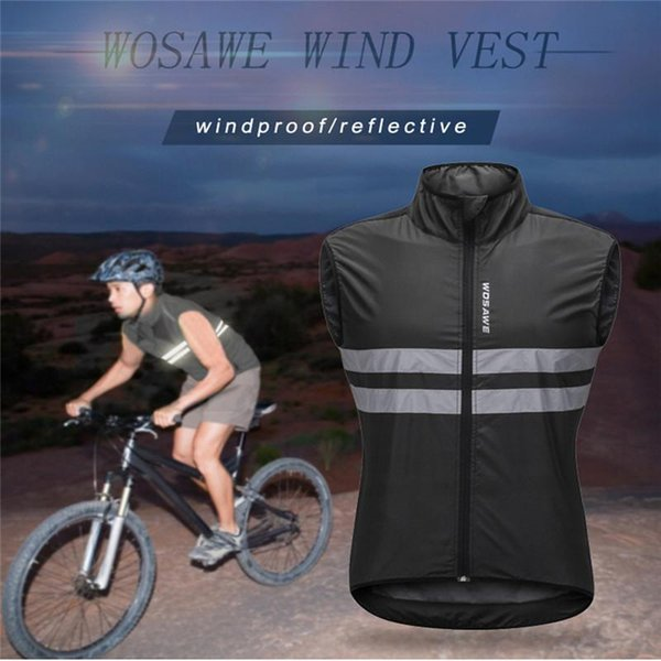 top popular High quality practical Motorcycle Cycling Pockets Vest Riding Reflective Waistcoat Jogging Biker Rider Breathable safe Night NEW 2020