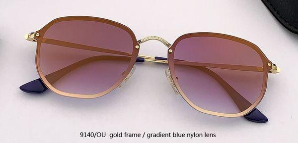 9140 / OU золотое / градиентное синее зеркало
