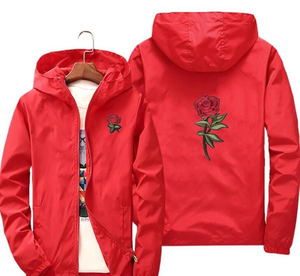 2019 Rose Jacket ветровка мужская и женская куртка новая мода белые и черные розы верхняя одежда пальто