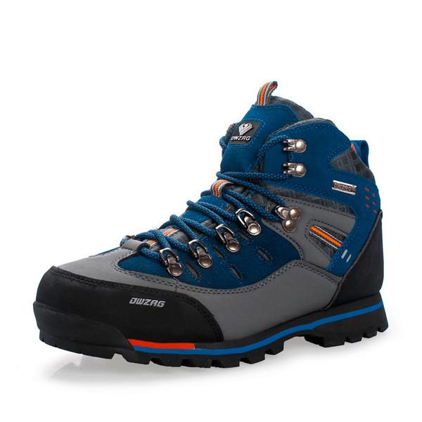 Zapatos de senderismo para hombre Zapatos de alpinismo de cuero a prueba de agua Caza Pesca Al aire libre Hombres Botas altas de invierno de montaña