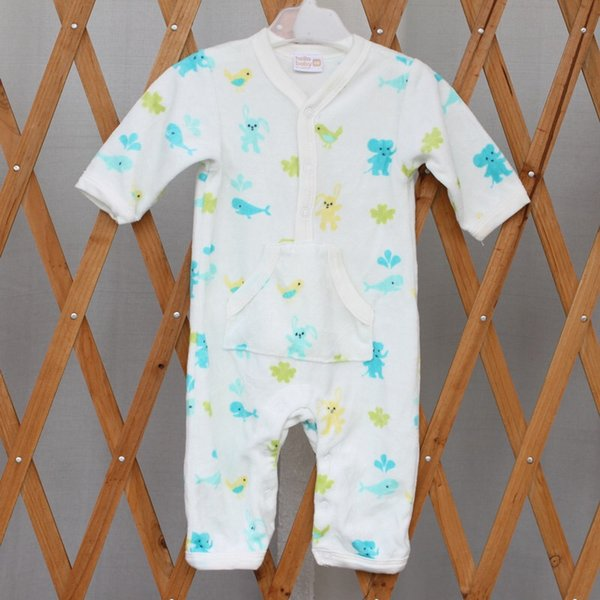 2019 sleeveless crawling clothes boys and girls long sleeve new-born baby cute jumpsuits velvet jackets and straps fashionable