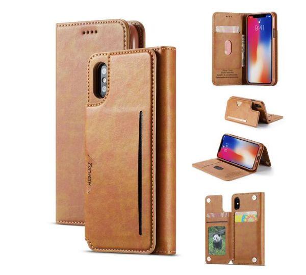 Luxus retro forwenw leder brieftasche case stand case für samsung galaxy s10 s10e s10plus karte mappe abdeckung für iphone x xs max