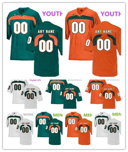 Miami Hurricanes Terry McCray 23 Michael Pinckney 56 Shaquille Quarterman jerseys MEN WOMEN YOUTH White green orange College Football jersey