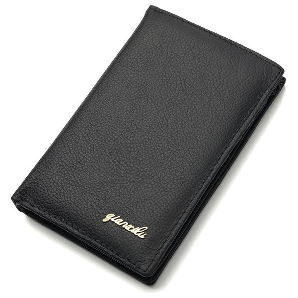 Первый слой воловья кожа вертикальный бизнес кошелек кожа большой емкости мужчины и женщины сумка сумка для мобильного телефона