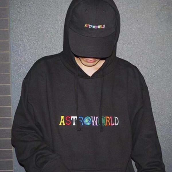 18FW ASTROWORLD dreidimensionale Stickerei Hoodie Sweatshirts Kostenloser Versand Druck Hip Hop Pullover Neue Travis Hoodies HFWPWY119