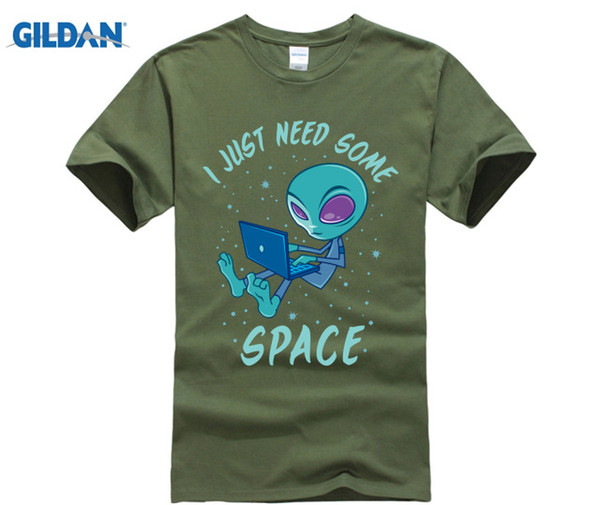 Computer Programmer SHIRT I Just Need Some Space Alien with Laptop T-Shirt